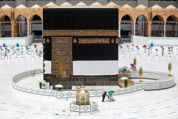 A trickle of hajj pilgrims, where millions once worshiped