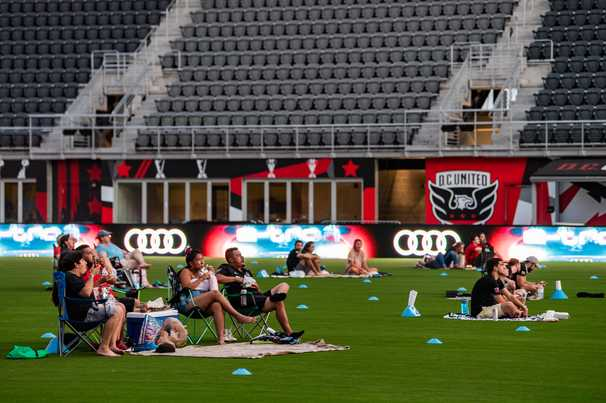 D.C. United welcomes back fans to Audi Field for socially distanced watch party