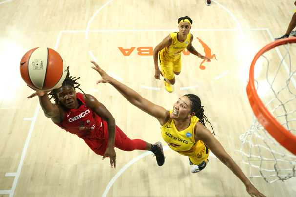 Myisha Hines-Allen scorches Fever as shorthanded Mystics open title defense with 101-76 win