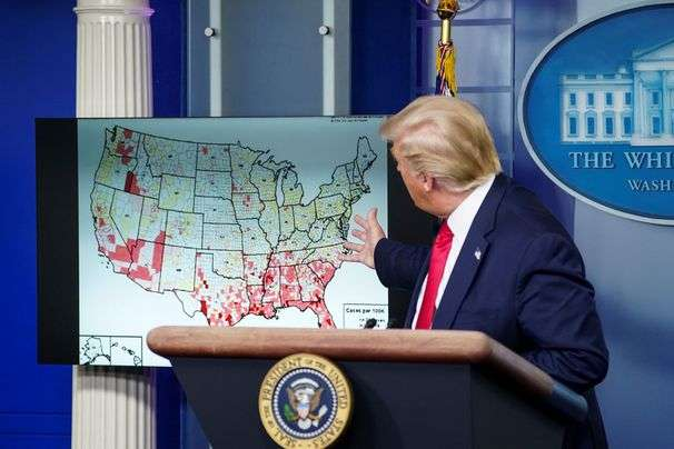To the Trump White House, every coronavirus wildfire is an ember
