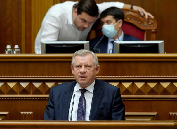 Ukraine's bank chief quit and received a coffin as a warning. It's a scandal that threatens the country's economic health.