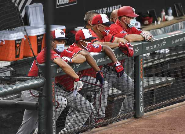 Why was that 53-year-old in the Nats' outfield? Because in a pandemic, everyone chips in.