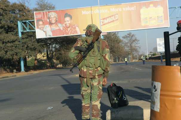 Zimbabwean cities deserted as authorities vow to treat protesters as 'terrorists'
