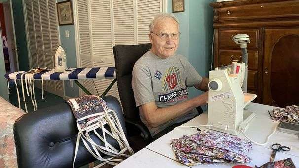 A 90-year-old Chevy Chase man spent months making masks. In return he got a birthday parade.