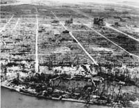 Image: The atomic bomb obliterated virtually all of Hiroshima. Eight months later, the landscape was little changed. (Army Recruiting Service/AP)