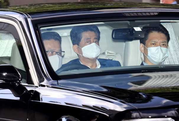 Japan's Shinzo Abe visits the hospital again as health concerns intensify