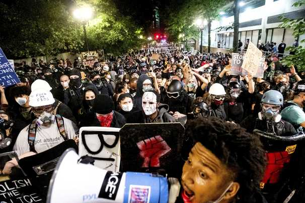 Portland protests calmer after federal agents stand down, but distrust of local police remains