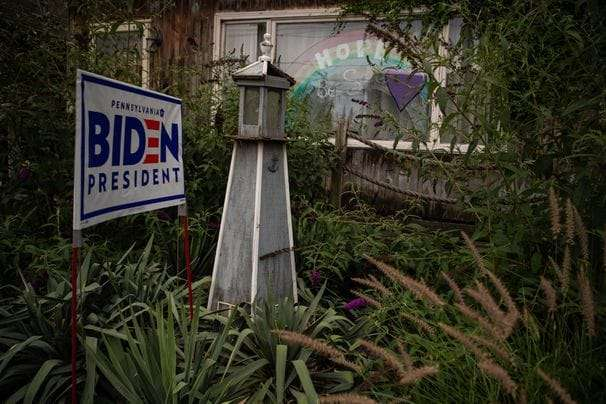 The latest battlefield in a heated presidential campaign: front yards bearing Biden signs.