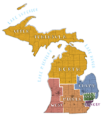 Image: Political geography michigan