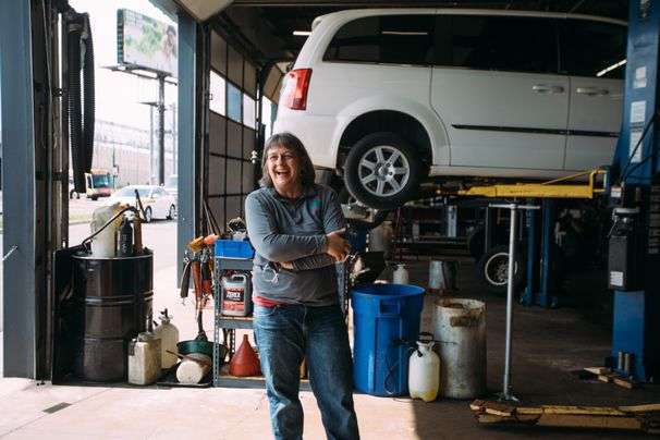This woman (and former minister) became an auto mechanic to help those in need