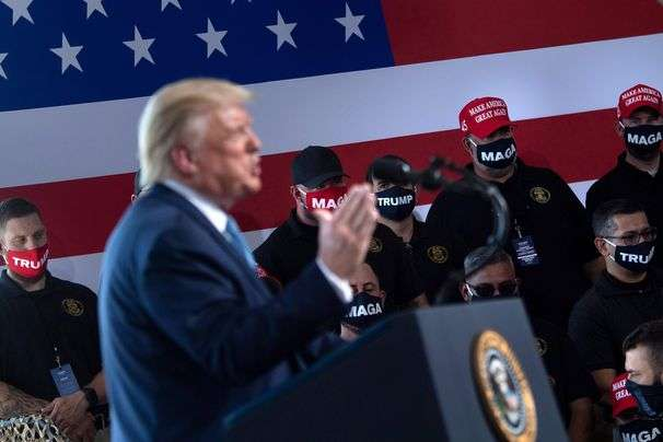 Trump obliterates lines between governing and campaigning in service of his reelection