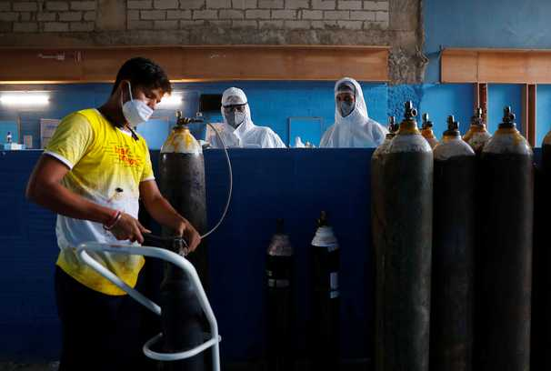 As coronavirus cases soar, India's hospitals race to secure badly needed oxygen