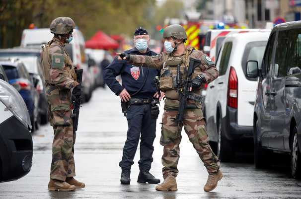 Two stabbed in Paris knife attack outside former Charlie Hebdo offices