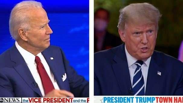 Biden's ABC town hall ratings beat Trump's three-network NBC event