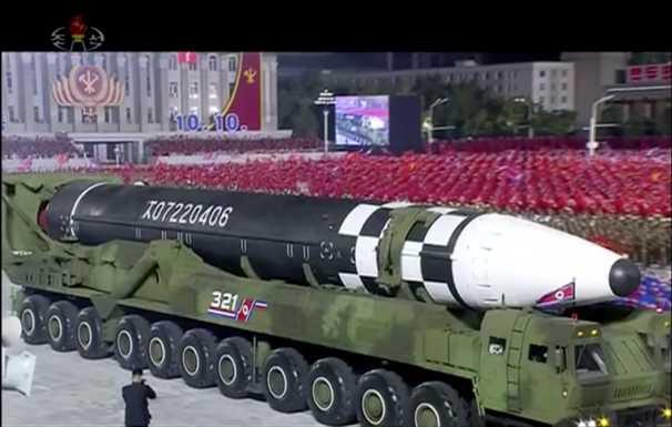 North Korea parades huge new ICBM, but Kim Jong Un stresses deterrent nature