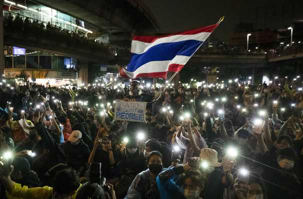 Thai protesters inspired by Hong Kong tactics in fight against the government