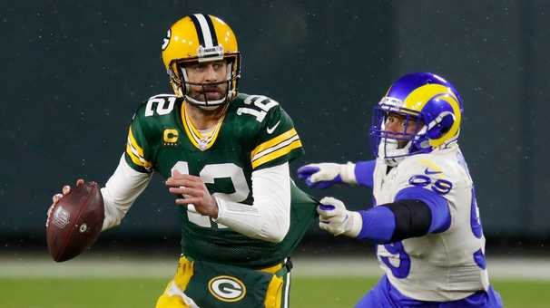 Aaron Rodgers, entering a showdown with Tom Brady, has gone from chippy to chill