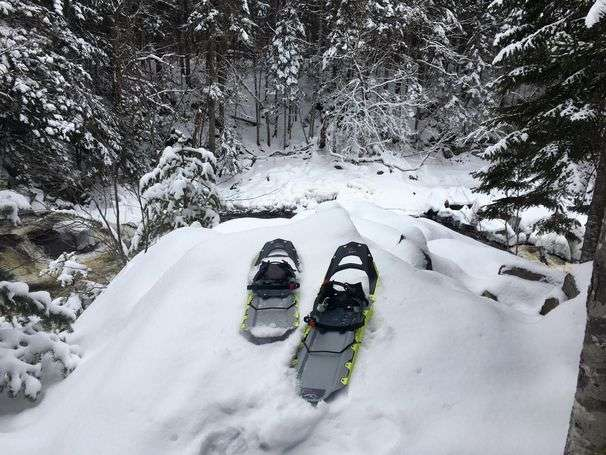 He escaped the cacophony by strapping on snowshoes and slipping into the Great North Woods