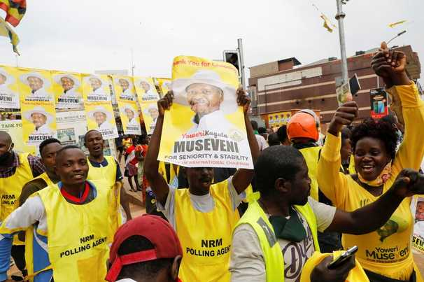 In Uganda, Museveni steamrolls to a sixth term. Billions in U.S. aid helps him stay in power.