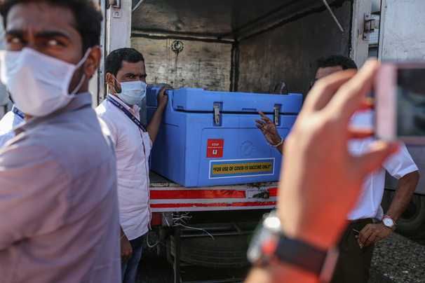 India launches what could be the world's largest vaccination campaign. But it's unclear if one of the vaccines works.