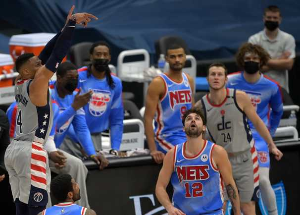 Wizards stun Nets with wild sequence in the final seconds