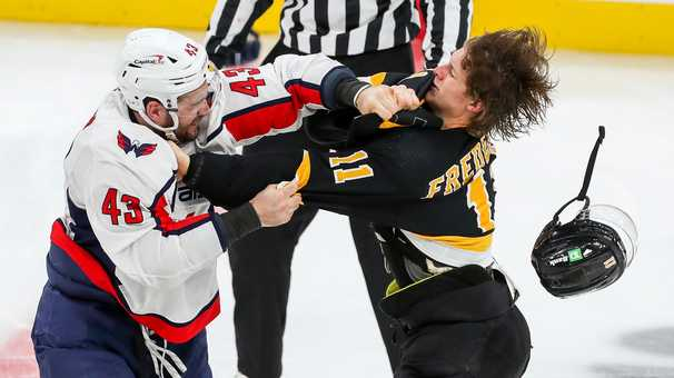 Capitals' Tom Wilson suspended seven games for boarding Bruins' Brandon Carlo