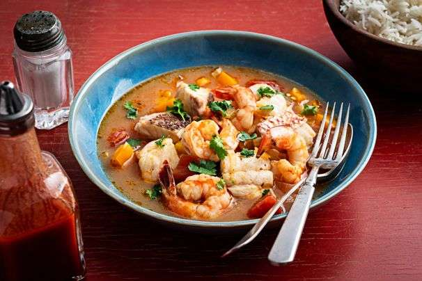 Caribbean-inspired seafood stew brings warm island vibes to your table