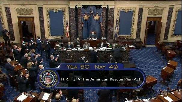 Senate passes Biden's $1.9 trillion coronavirus relief bill after voting overnight on amendments, sends measure back to House