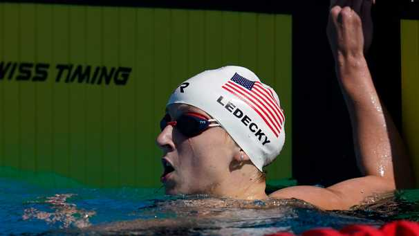 Katie Ledecky erases any doubts about pre-Olympic form with world's fastest 200 time of year