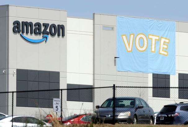 Union appears headed toward defeat in Amazon vote in Alabama