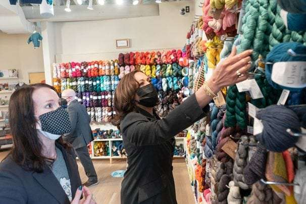 Vice President Harris is making her mark on the Washington-area crochet scene