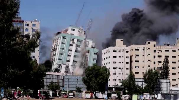 An Israeli warning, an airstrike and then outrage over hit on Gaza media building