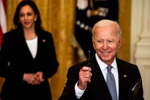 Biden says coronavirus cases down in all states as he announces more U.S. sharing of vaccines