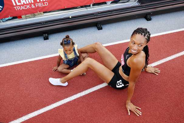 Allyson Felix, so used to coming in first, delivers a second-place finish for the ages