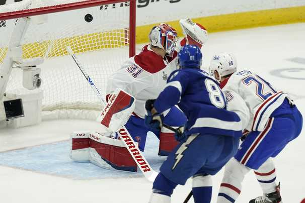 Lightning routs Canadiens in Game 1, asserting itself in the Stanley Cup finals