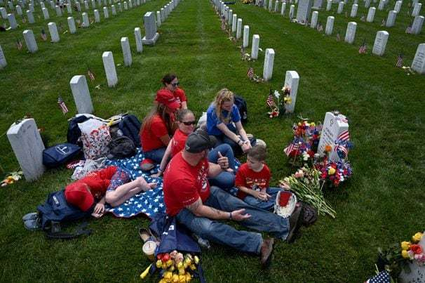 Public swarms Arlington National Cemetery on Memorial Day for the first time since the pandemic