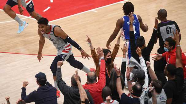 Wizards show more spunk with Joel Embiid out and dump the 76ers to keep their season alive