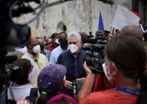 Cuba's president confronts a nation in crisis. Among his challenges: 'He's no Fidel.'