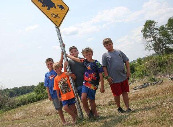 These boys found turtles squashed on the road. Now they spend their days helping other turtles get across.