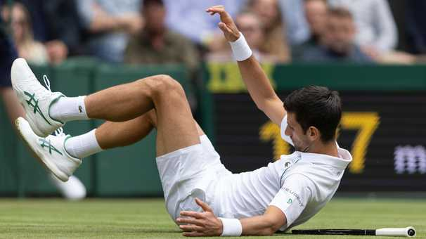 Wimbledon's slippery grass continues to wreak havoc, both mentally and physically