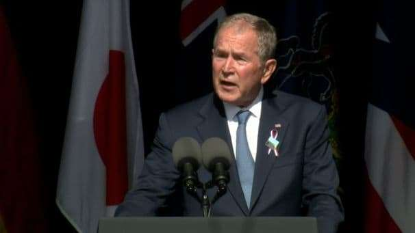 George W. Bush compares 'violent extremists at home' to 9/11 terrorists in 20th anniversary speech