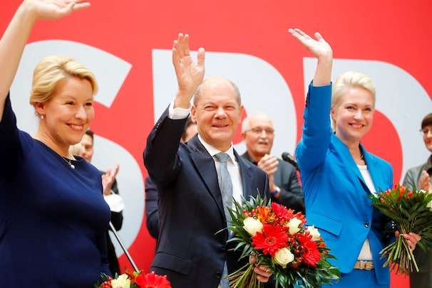 Germany's Social Democrats say Merkel's party lost and should go into opposition