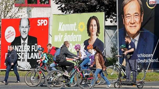 Slight edge for Social Democrats in race to succeed Merkel in German election, projection shows