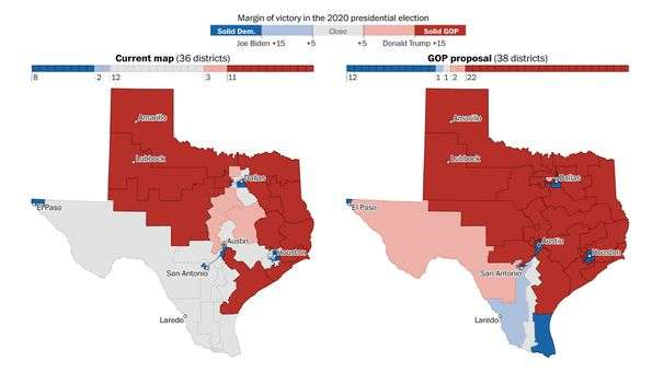 Texas GOP lawmakers' redistricting map protects congressional incumbents while avoiding a new Latino-majority seat