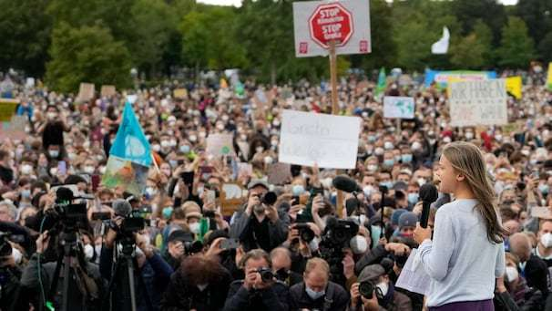 Young climate activists join Greta Thunberg for first major Fridays for Future strikes of pandemic