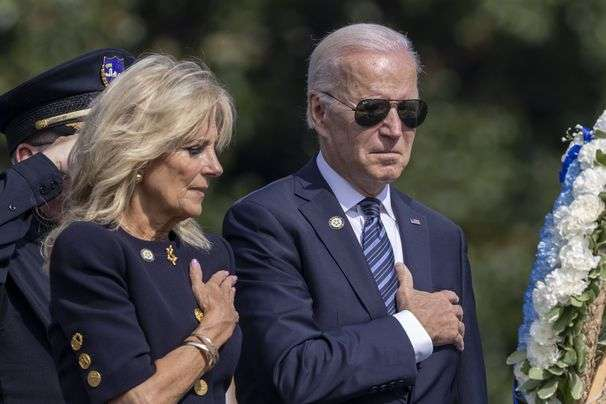 Biden commemorates police officers killed: 'There's too much pain. There's too much loss.'