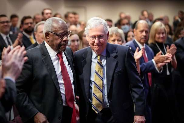 McConnell lauds Thomas, says Supreme Court should not heed the 'rule of polls'