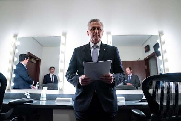 Would-be speaker Kevin McCarthy walks the Trump tightrope, pursuing a GOP House